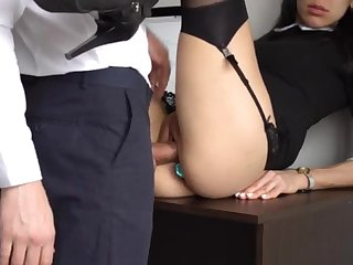 Ass Fucking Internal Ejaculation For Gorgeous Super-Bitch Assistant, First Smashed Her Cock-Squeezing Cooter And Culo!