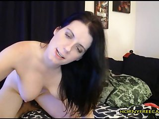 Horny, Bus, Brunette, Big tits, Webcam, Masturbation, Red, Solo, Squirt, Tits, Toys, Babe,
