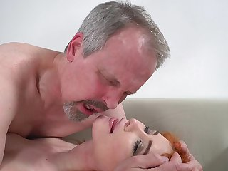 Horny old guy has unforgettable sex roughly wife's cute stepdaughter